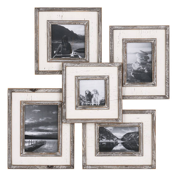 Cadre photos multi. Ashworth gris/blanc