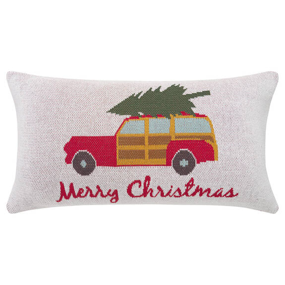 Coussin wagon Woody 12x22 naturel/rouge