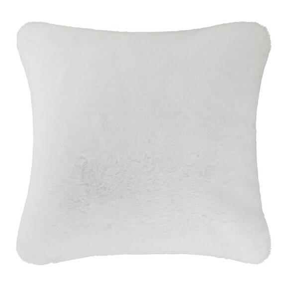 Coussin f.fourrure Flora 20x20 blanc