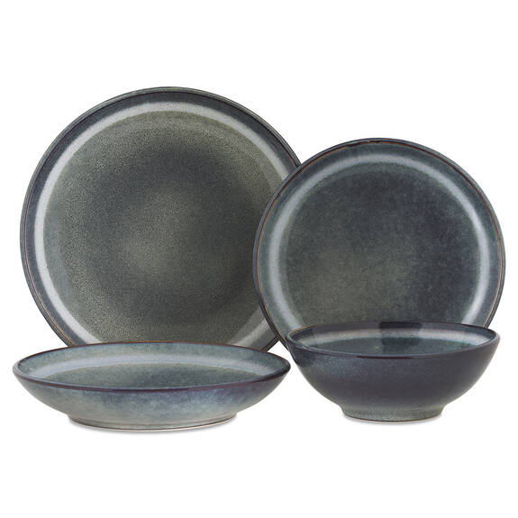 Service vaisselle Salt Spring 16 p. bleu