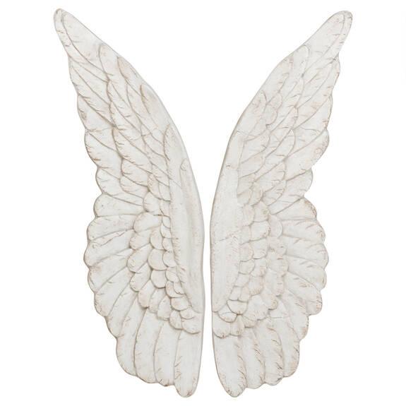 Ensemble d'ailes d'ange blanc antique
