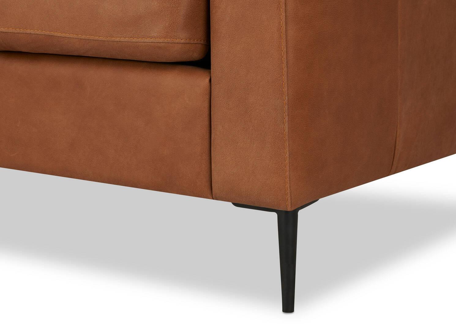 Canapé en cuir Lucca personnalisé