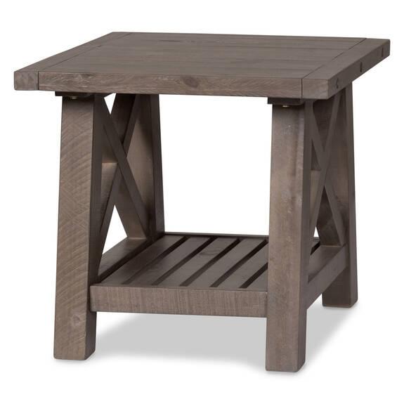 Table d'appoint Ironside -gris rustique