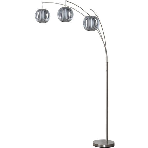 Lampe sur pied 3 lanternes grises