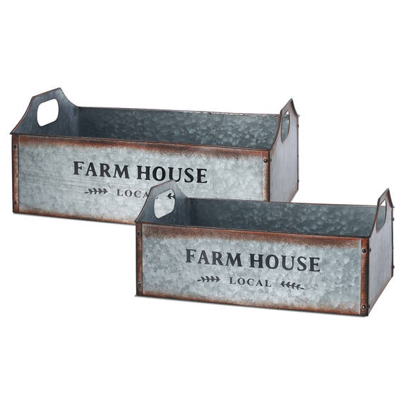 Paniers De Rangement En Métal Farmhouse