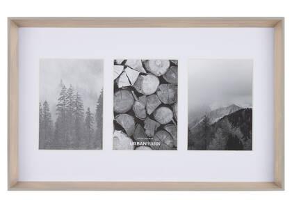 Cadre mural Kyson 3-5x7 naturel/gris