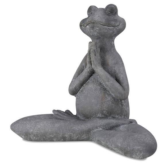 Gren. Asana avec mains en prière grise