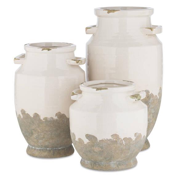 Vases Emmaline -blancs/gris