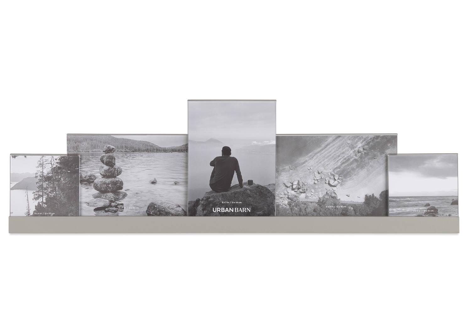 Cadre à photos multiples Nye gris
