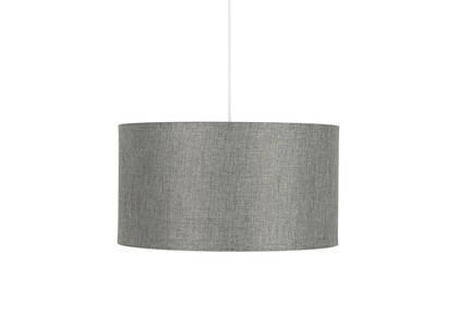 Lampe suspendue tambour Camila grise