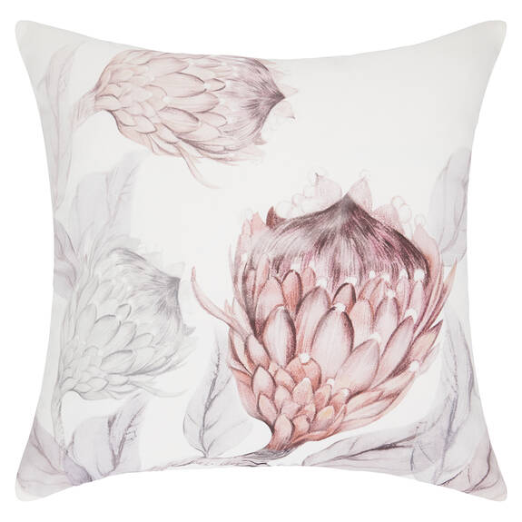 Coussin Beatriz 20x20 blanc/rose ballet
