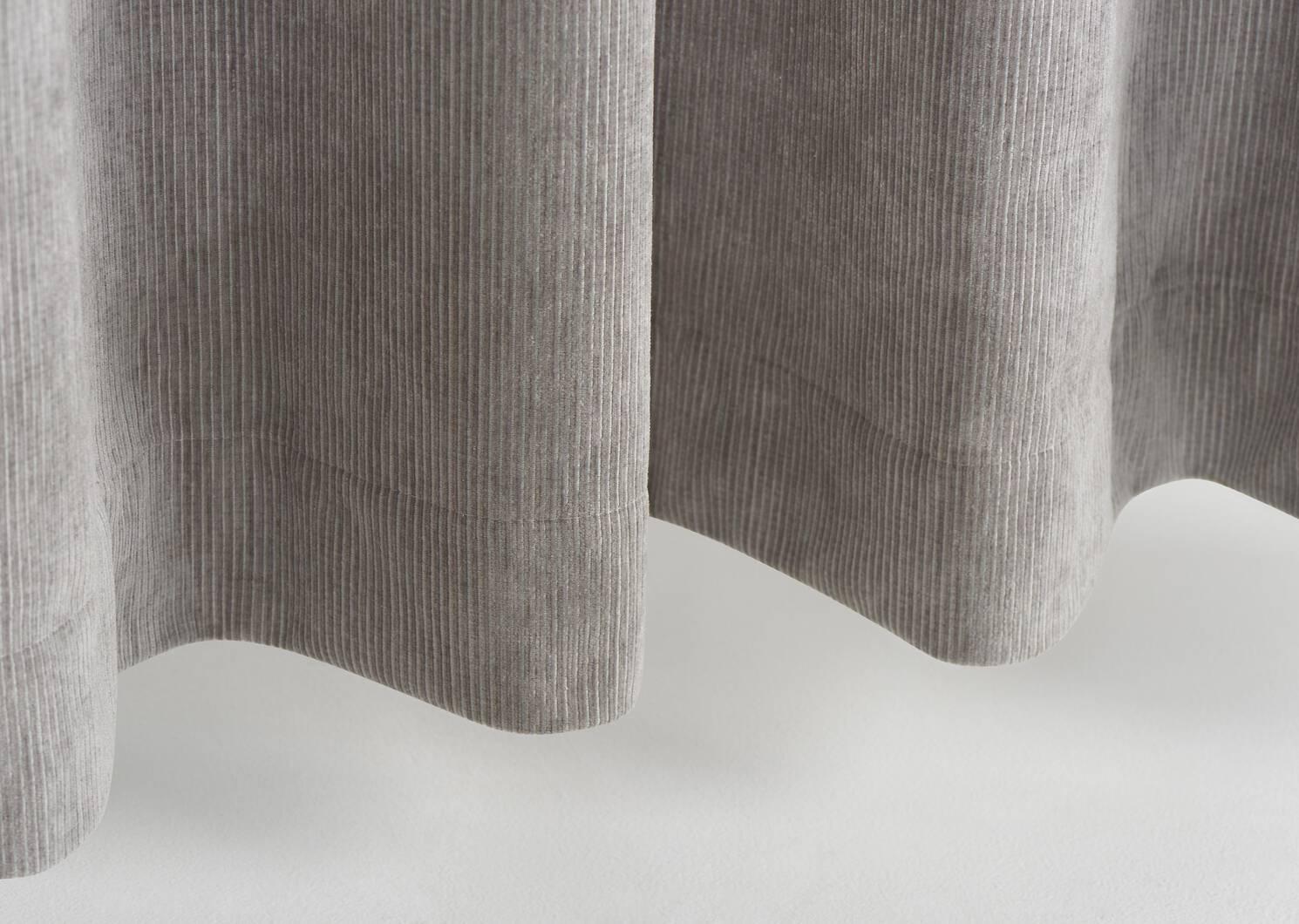 Rideau Marceline 96 gris argenté