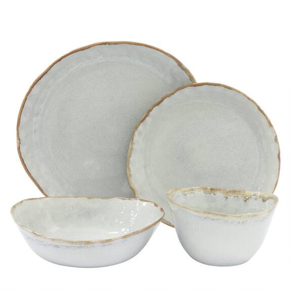 Service vaisselle Crofton 16 pcs gr pâle