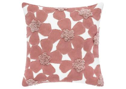 Coussin floral Camrose 20x20 ivoire/rose