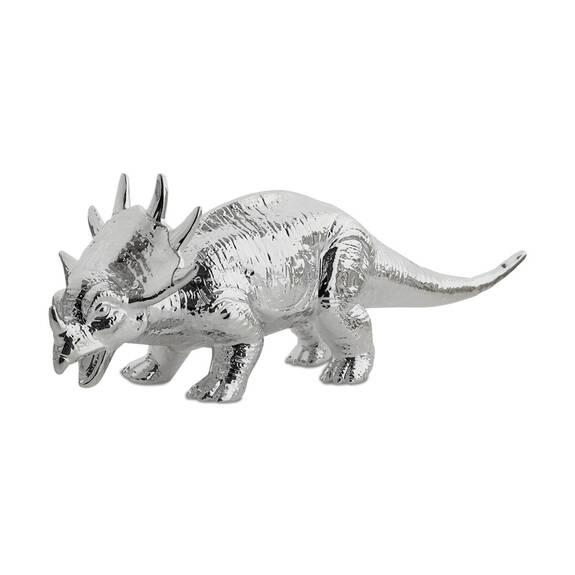 Déco tricératops argentée