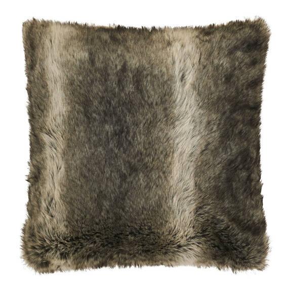 Coussin f.fourrure Fauna 20x20 loup gris