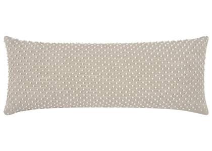 Coussin pois Manzanita 14x36 ivoire/nat