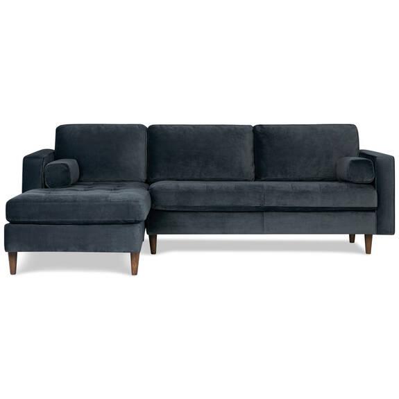 Canapé d'angle Reynolds -Gala acier