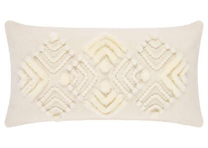 Coussin Highgrove 12x22 ivoire/crème