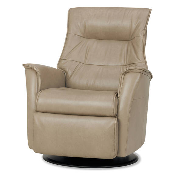 Fauteuil inc.cuir Paramount -Sol colombe