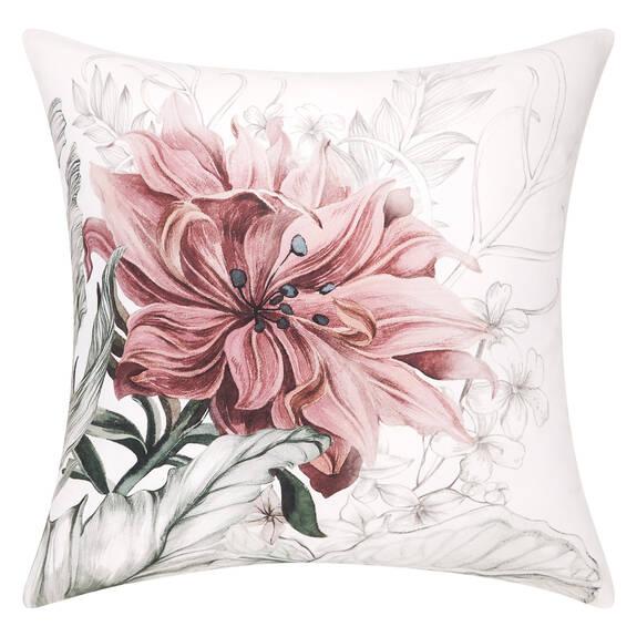 Coussin Beatriz 24x24 blanc/rose ballet