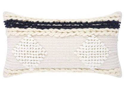 Coussin Cordoba 12x22 ivoire/Atlantique