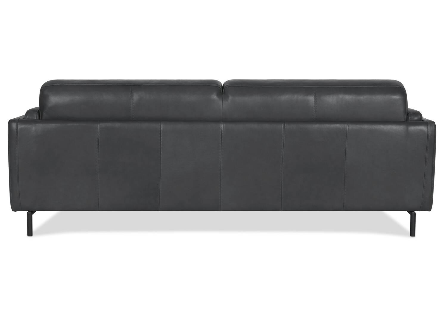 Canapé en cuir Renfrew 80 po -Alder gris
