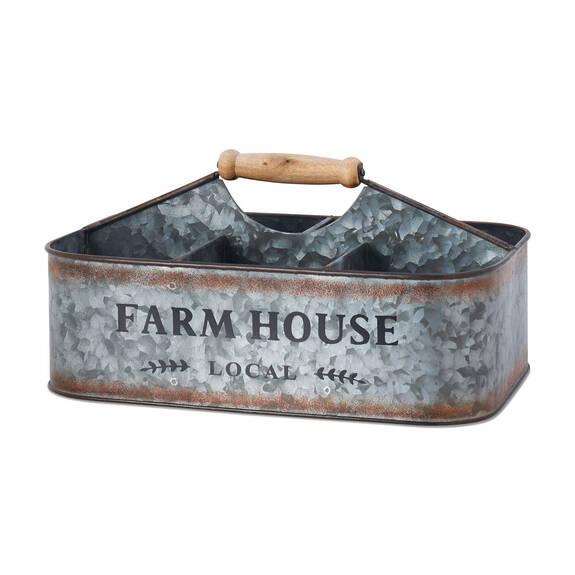 Panier de rangement en métal Farmhouse
