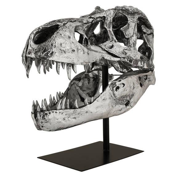 Sculpture de tête Paleo argentée