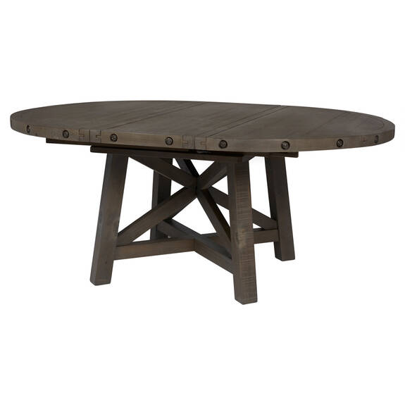 Table ronde rallonge Ironside -gris rust