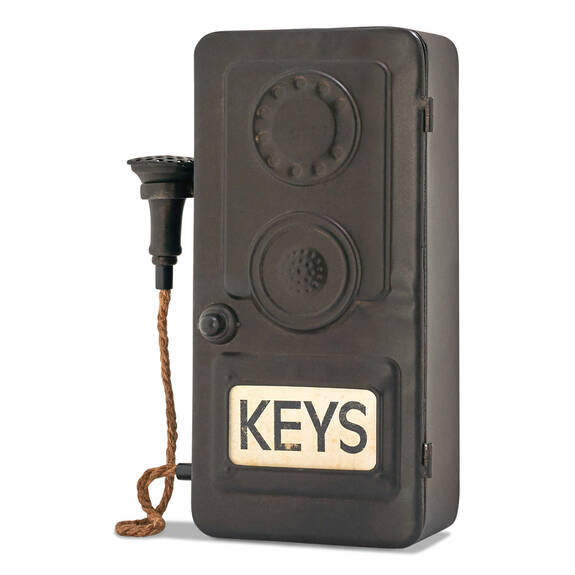 Boîte à clés cabine télé. Nostalgic