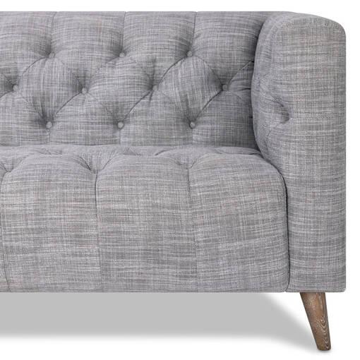 Canapé d'angle Nolan -Owen gris, gauche