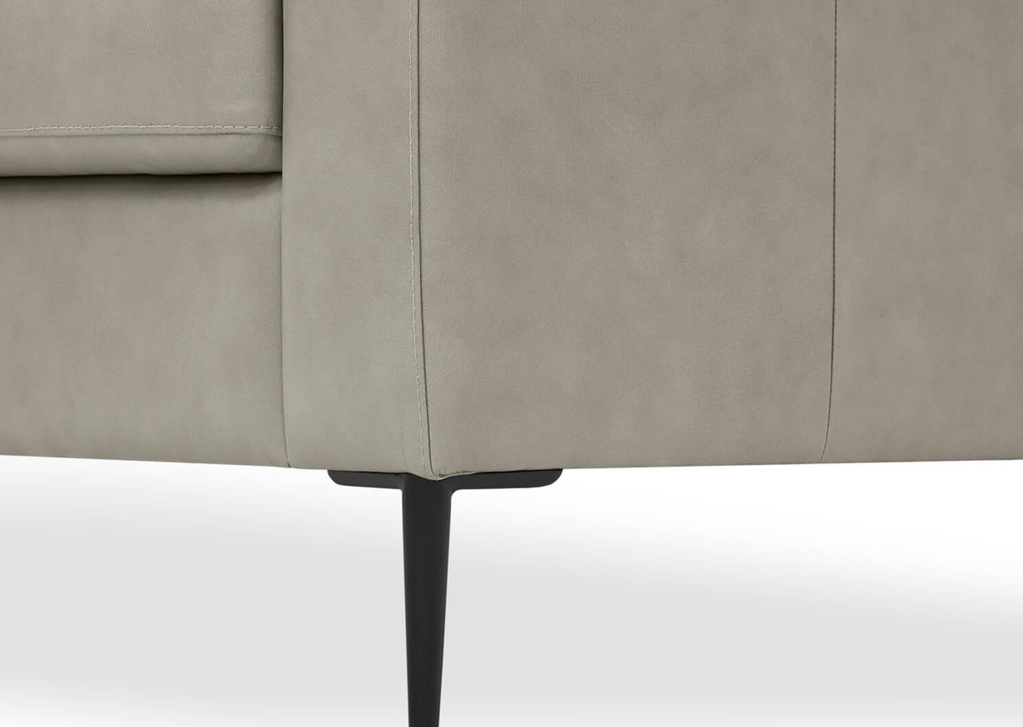 Canapé d'angle en cuir Lucca personnalisé