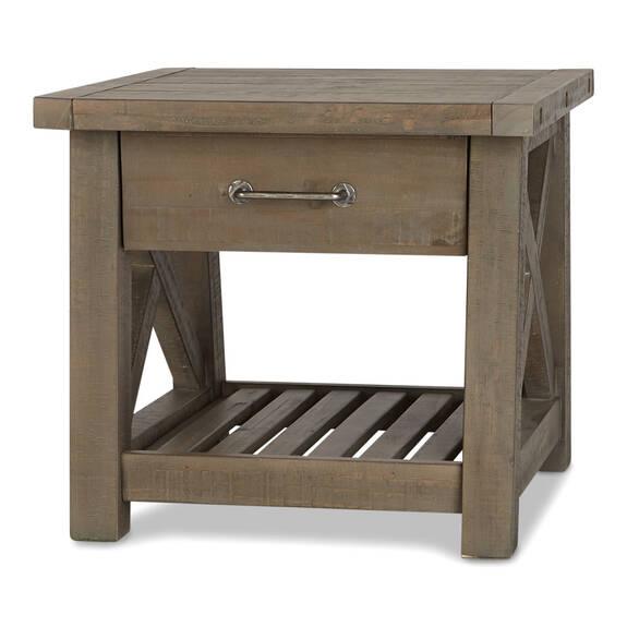 Table app. 1 tiroir Ironside -gris rust