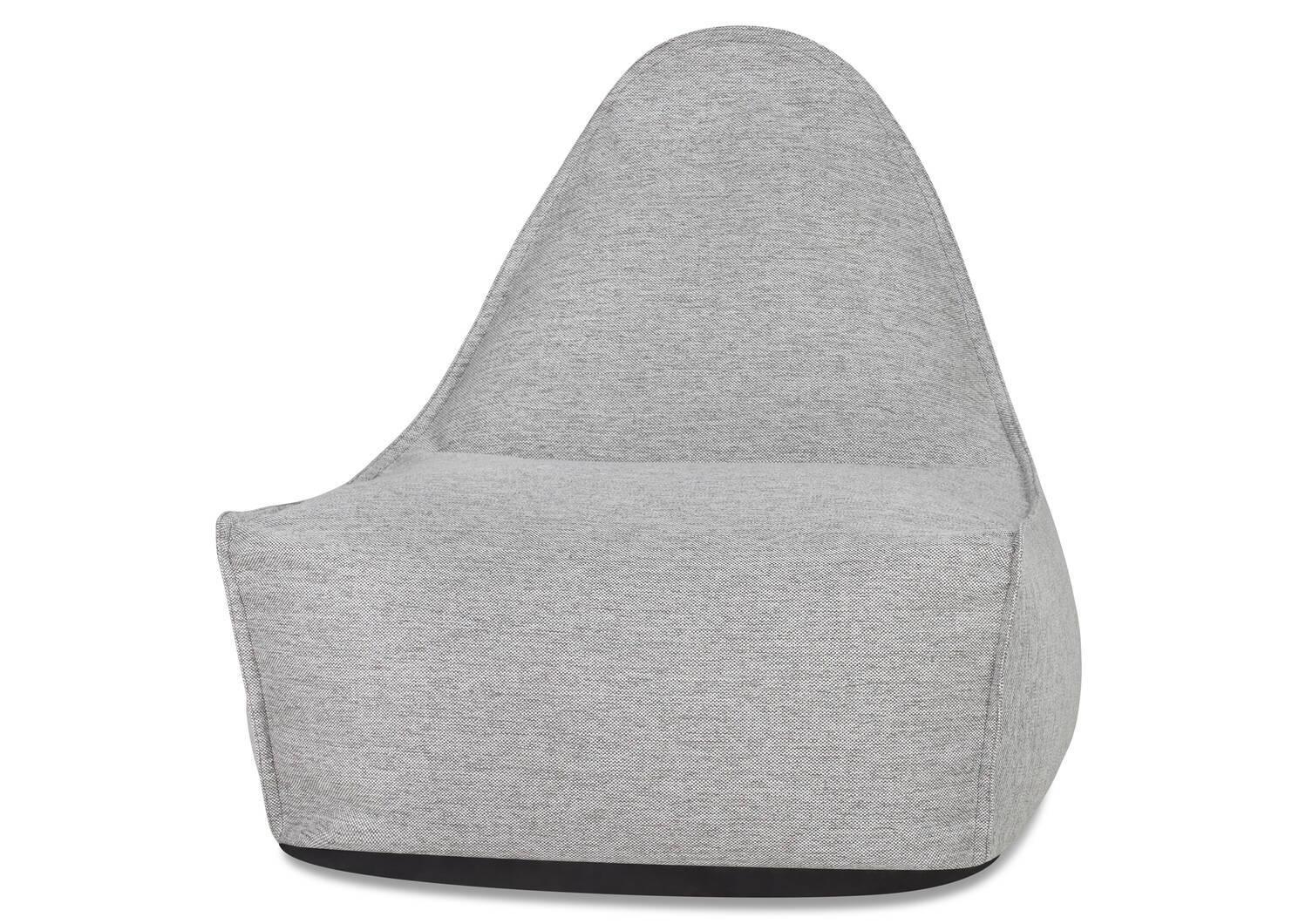 Chaise dét. et r-pieds Cabana -Kobe gris