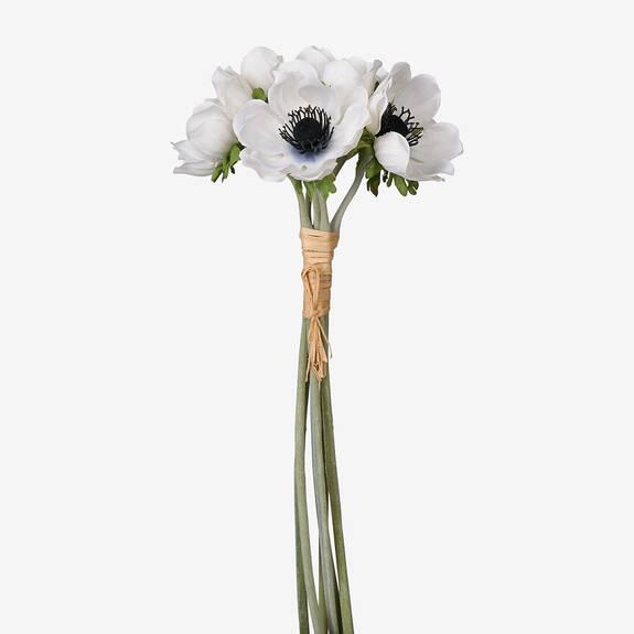 Bouquet d'anémones Heidi blanches